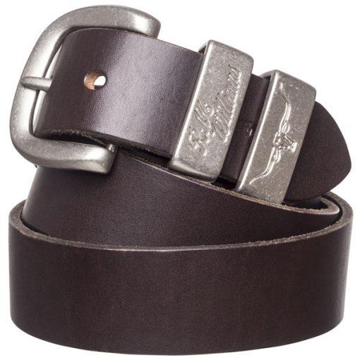 """R.M Williams 1 1/2"""" 3 Piece Belt - Chestnut"""