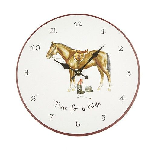 At Home In The Country Wall Clock - Time For A Ride