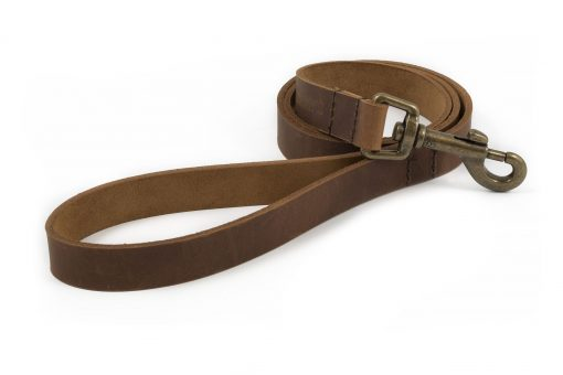 Ancol Heritage Leather Lead 130x1.9cm - Chestnut