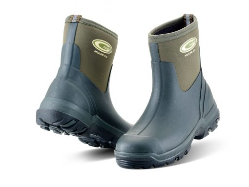 Grubs Midline Ankle Length Wellington Boots - Green