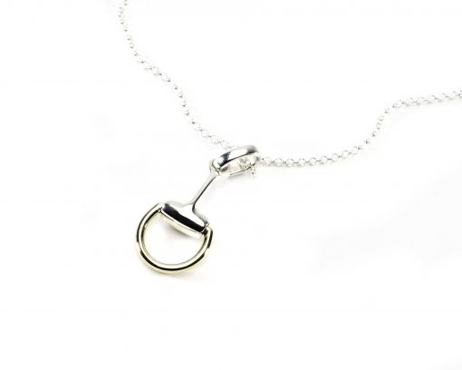 Hiho Silver & Two Tone Snaffle Pendant