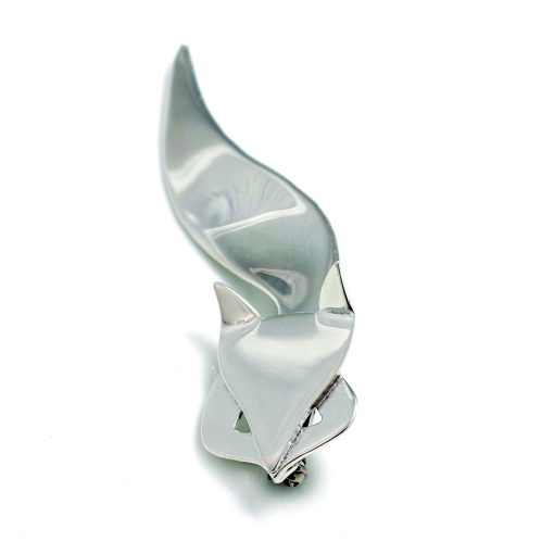 Hiho Sterling Silver Fox Brooch - Silver