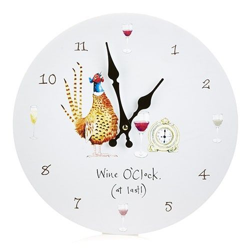 At Home In The Country Wall Clock - Wine O'clock