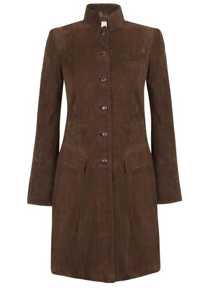 Anna Lascata Long Suede Coat - Tuffler