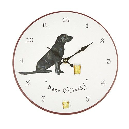 At Home In The Country Wall Clock - Beer O'clock