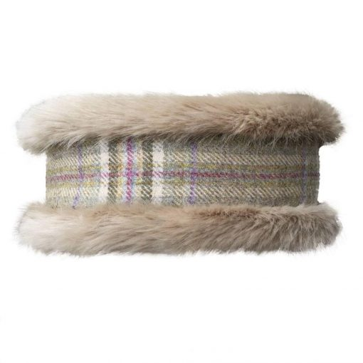 Annabel Brocks Faux Fur Neck Warmer - Beige & Spring