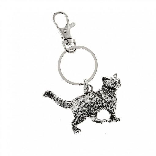 At Home In The Country Keyring - Cat