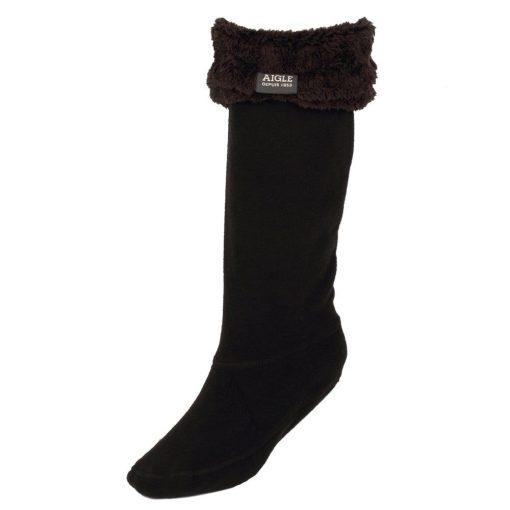 Aigle Fleece Boot Socks - Black