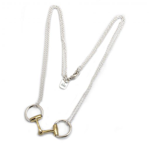 Hiho Silver Double Snaffle Necklace - Gold & Silver