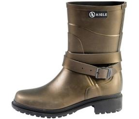 Aigle Macadames Boots - Gold