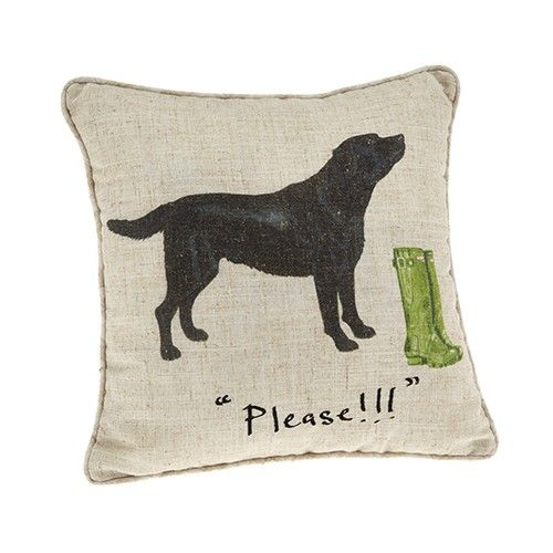 At Home In The Country Cushion - Please Labrador