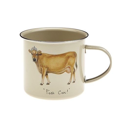At Home In The Country Tinware Mug - Posh Cow