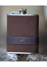 Dubarry Rugby Leather Hip Flask - Walnut