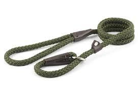 Ancol Rope Slip Lead 120x1.2cm - Green