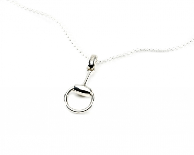 Hiho Sterling Silver Snaffle Pendant on Fine Trace Chain