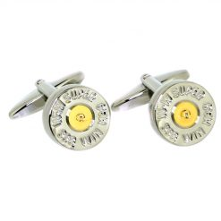 Soprano Shotgun Cartridge Cufflinks - Silver