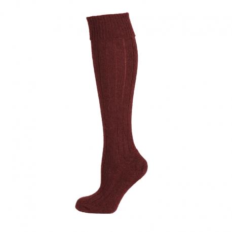 Corrymoor Woodlander Sock - Burgundy