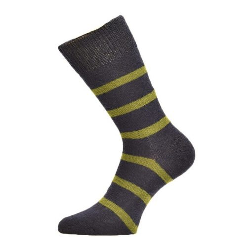 Corrymoor Devon Stripes Sock - Navy/Moss