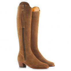 Fairfax & Favor The Heeled Regina Suede Boot -Tan