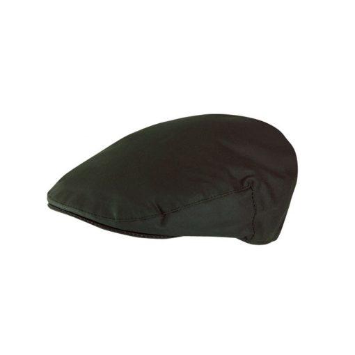 Jack Murphy Waxed Flat Cap - Olive