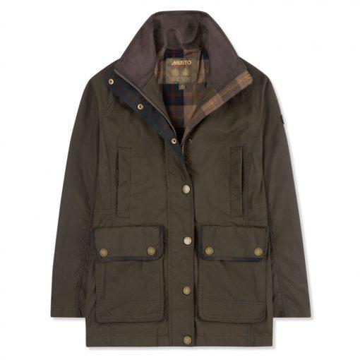 Musto Berkeley Oil Cloth Jacket - Rifle Green