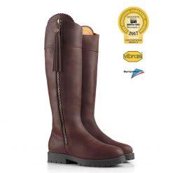 Fairfax & Favor Explorer Leather Boot Narrow Fit - Mahogany