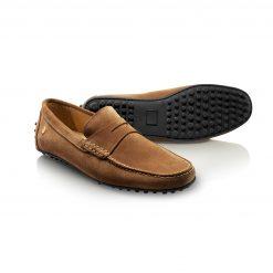 Fairfax & Favor The Monte Carlo Driving Shoe - Tan Suede