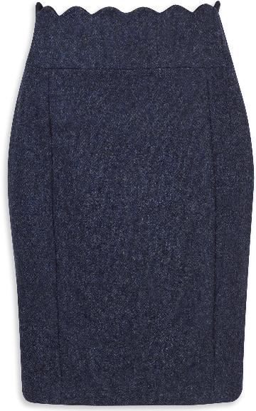 Jack Murphy Taylor Classic Tweed Skirt - Navy Herringbone