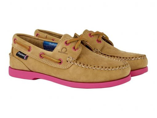 Chatham Pippa ll G2 Leather Boat Shoes - Tan/Pink