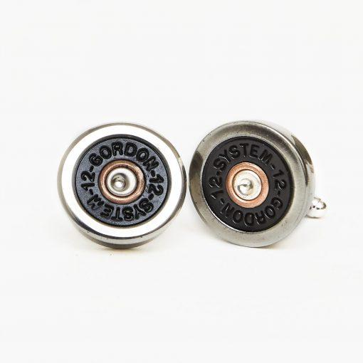 Hicks & Hides 12 Bore Cufflinks - Silver & Black