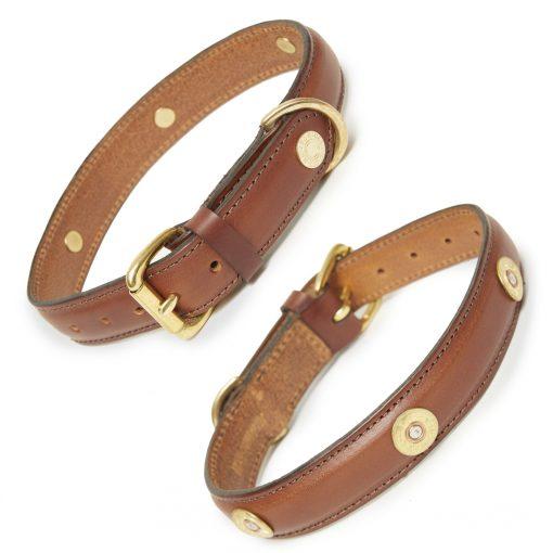 Hicks & Hides Laverton Multi Field Dog Collar - Cognac