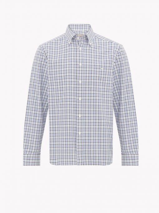 R.M Williams Collins Button Down Shirt - Blue Navy White