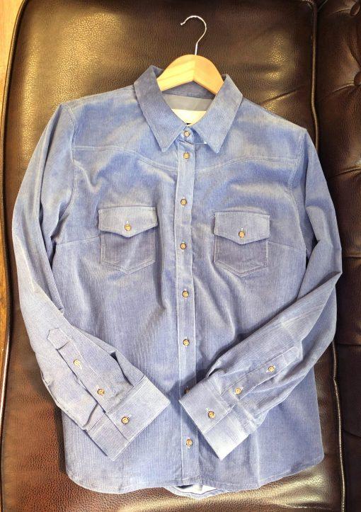 Gibson & Birkbeck Cord Shirt - Blue