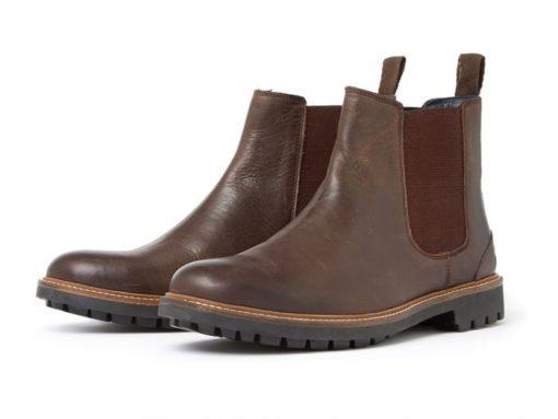 Chatham Chirk Premium Leather Chelsea Boot - Dark Brown