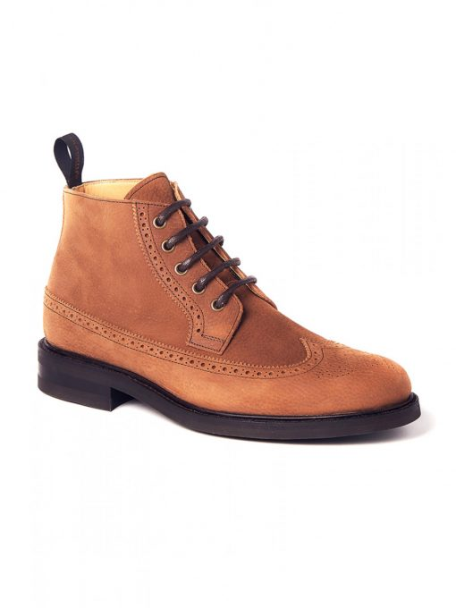 Dubarry Down Brogue Lace Boot - Brown