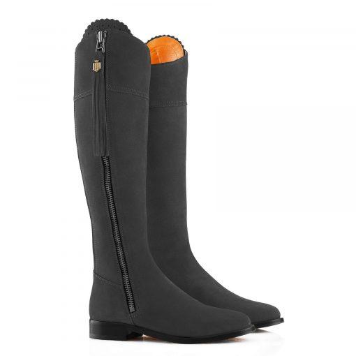 Fairfax & Favor The Regina Suede Boot - Grey