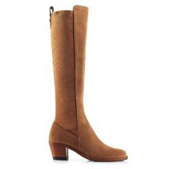 Fairfax & Favor Belgravia Knee High Suede Stretch Boot - Tan
