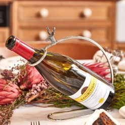 At Home In The Country Wine Bottle Stand - Stags Head