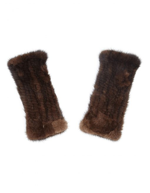 Guinea London Mink Hand Mitts - Brown