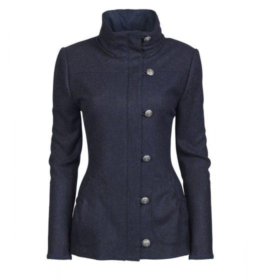 Dubarry Bracken Tweed Coat - Navy