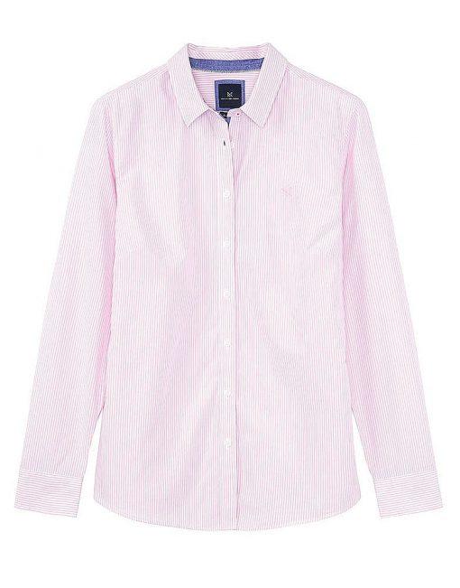 Crew Clothing Classic Stripe Shirt - Pink/White