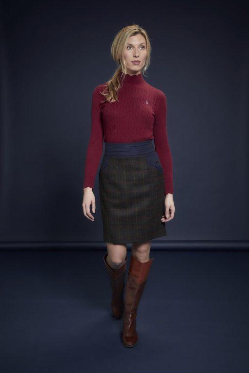 Jack Murphy Norah Tweed Skirt - Primary Green