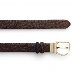 Fairfax & Favor Blickling Belt - Navy & Chocolate