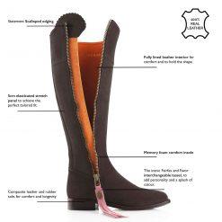 Fairfax & Favor The Regina Suede Boot - Chocolate