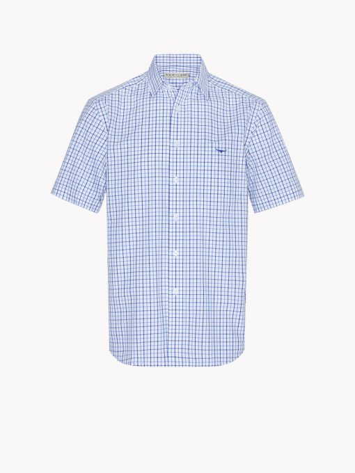 R.M Williams Hervey Shirt - Navy/Blue/White