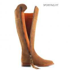 Fairfax & Favor The Regina Suede Boot Sporting Fit - Tan