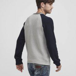 Holebrook Jeff Crew Knit Sweater - Grey Marle/Navy