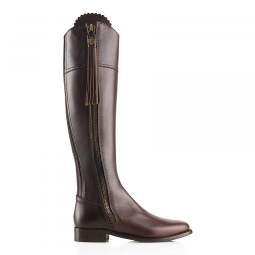 Fairfax & Favor The Regina Leather Boot - Mahogany