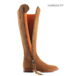 Fairfax & Favor The Regina Suede Boot Narrow Fit - Tan
