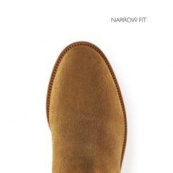 Fairfax & Favor The Heeled Regina Suede Boot Narrow Fit - Tan